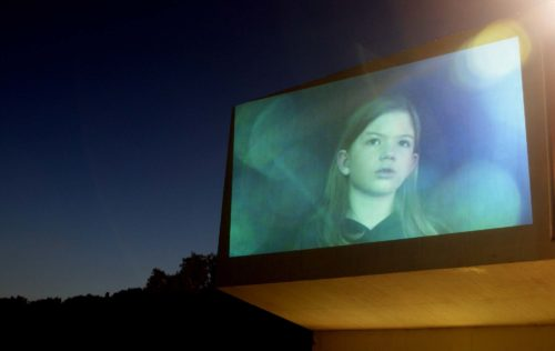 videoprojection on outside wall